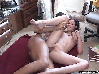 Teeny loves black cock inside